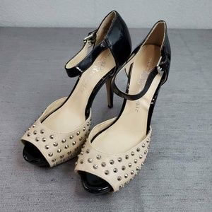Rock & Republic Womens 8.5 Studded D-Orsay Pumps